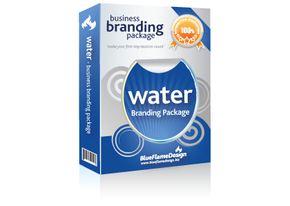 Water Business Branding Package from BlueFlameDesign