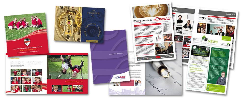 Corporate newsletters company brochure design services for Brochure design services