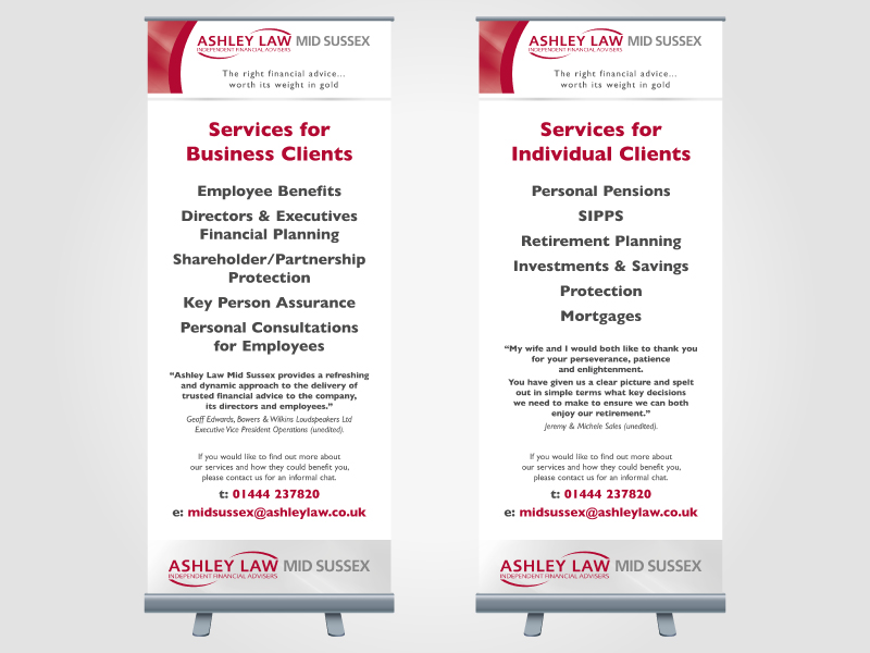 Ashley Law Mid Sussex Exhibition Roller/Pull Up Banner Design