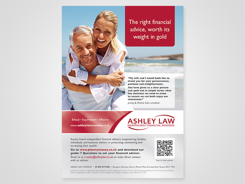 Ashley Law Mid Sussex Advert Design and Print Advertising