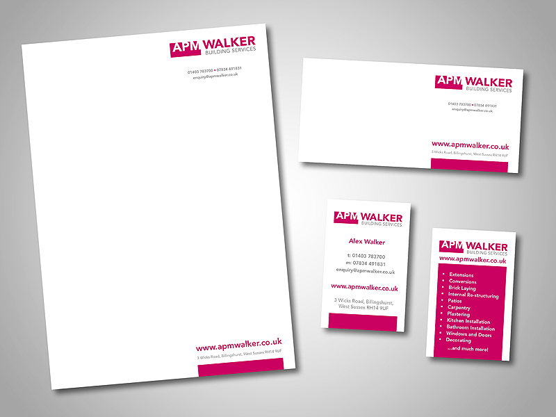 APM Walker Company Stationery Design and Business Branding