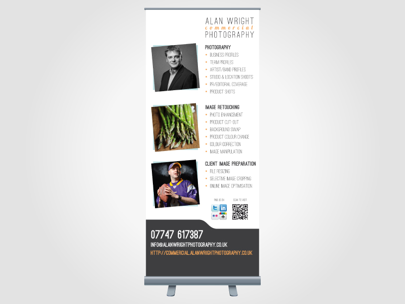 Alan Wright Photography Exhibition Roller/Pull Up Banner Design