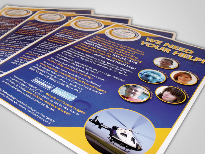 Billingshurst Channel Hoppers Direct Mail Design and Marketing