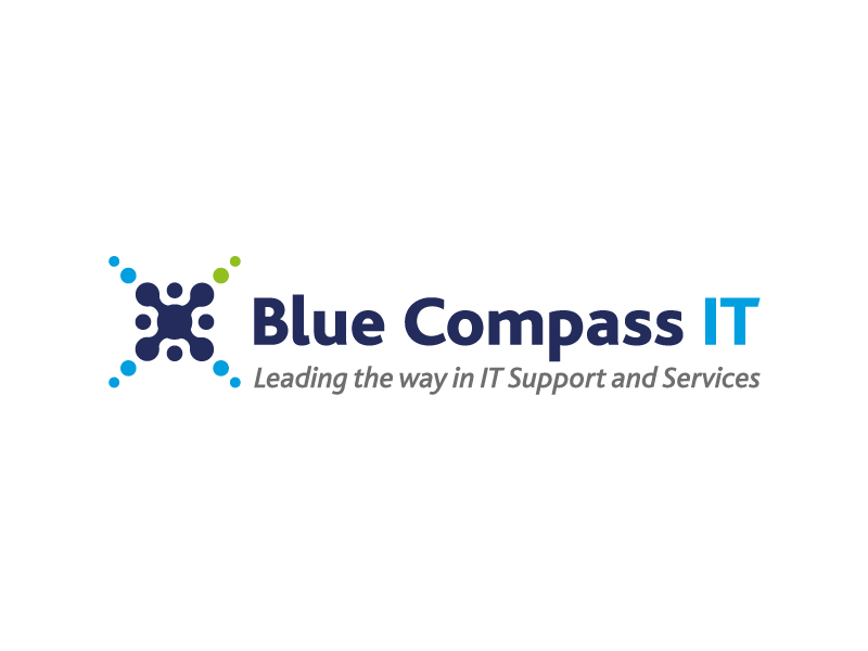 Blue Compass IT Logo Design
