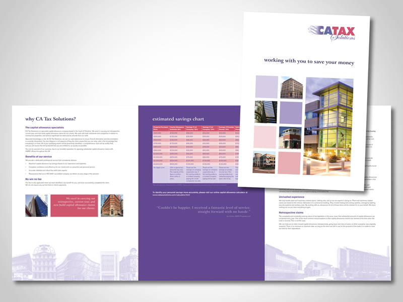 CATAX Corporate Folder and Brochure Design