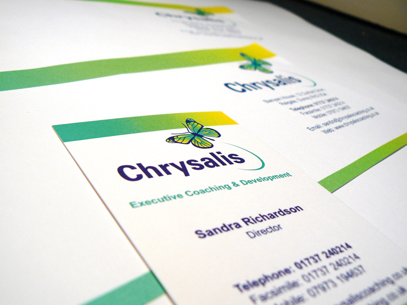 Chrysalis Coaching Company Stationery Design and Business Branding