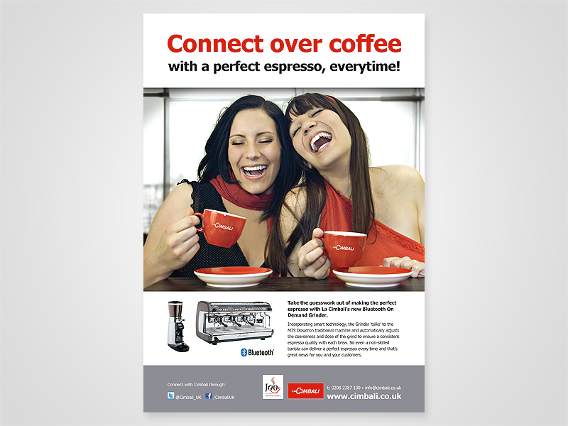 La Cimbali 'Connect Over Coffee' Advert Design and Print Advertising