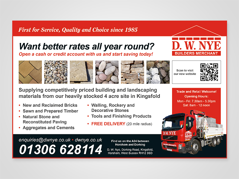 DW NYE 'Better Rates' Advert Design and Print Advertising