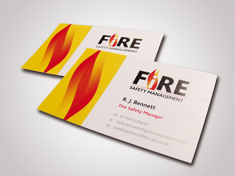 Fire Safety Management Company Stationery Design and Business Branding