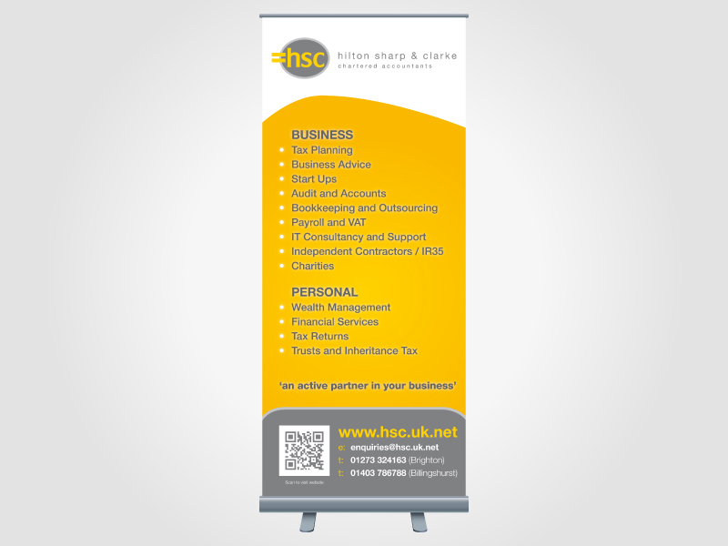 Hilton Sharp and Clarke Exhibition Roller/Pull Up Banner Design