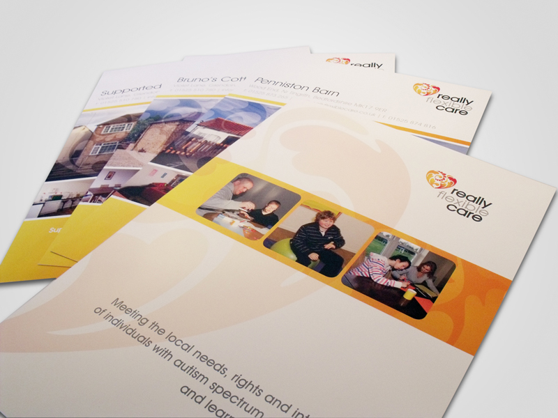 Really Flexible Care Corporate Folder and Marketing Inserts Design
