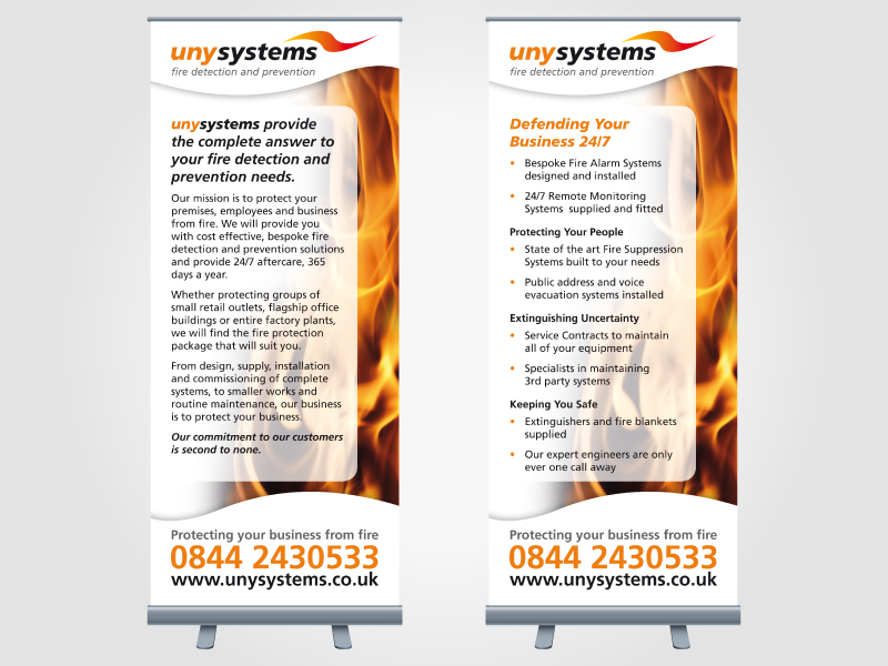 Uny Systems Exhibition Roller/Pull Up Banner Design