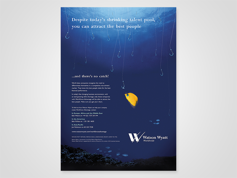 Watson Wyatt 'Shrinking Talent Pool' Advert Design and Print Advertising