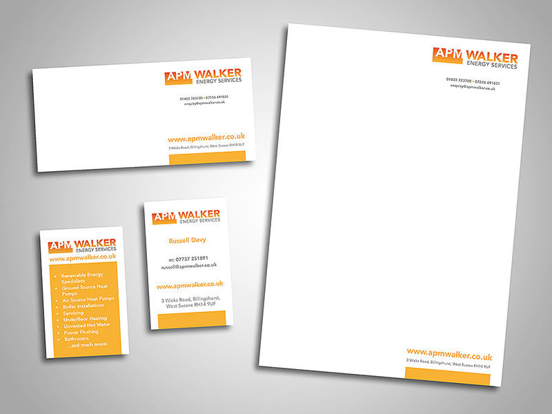 APM Walker Energy Services Company Stationery Design
