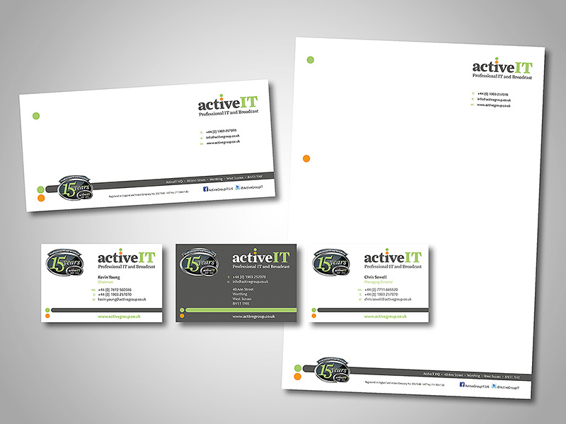 ActiveIT Company Stationery Design and Business Branding