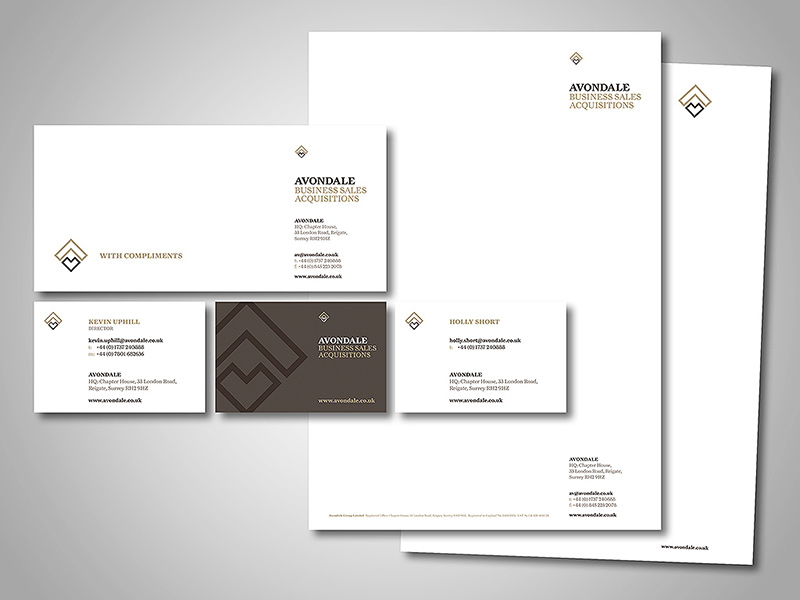 Avondale Company Stationery Design and Business Branding