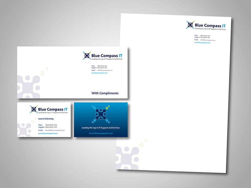 Blue Compass IT Business Branding and Stationery Design by BlueFlameDesign