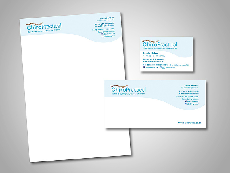 ChiroPractical Company Stationery Design by BlueFlameDesign