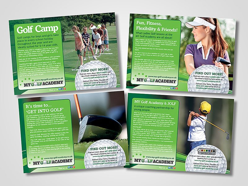 MY Golf Academy Direct Mail Design and Marketing