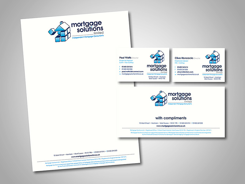 Mortgage Solutions Company Stationery Design and Business Branding