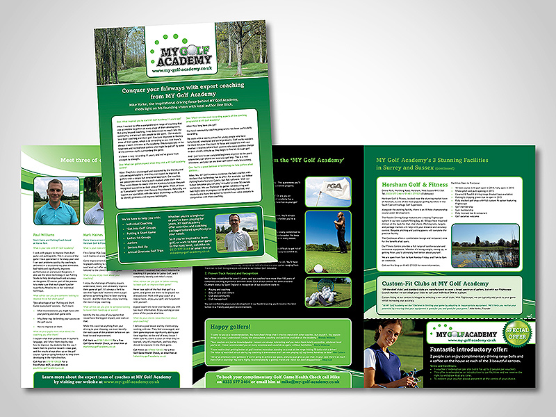 MY Golf Academy Company Brochure Design