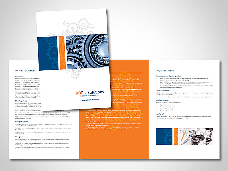 RD Tax Solutions Company Folder Design by BlueFlameDesign