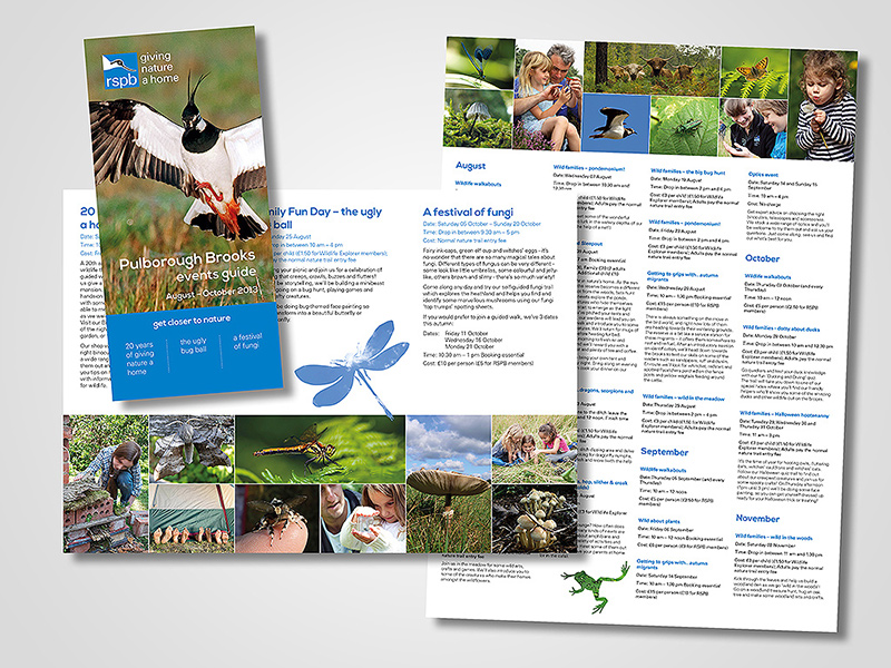 RSPB Events Guide (Autumn)  Brochure Design