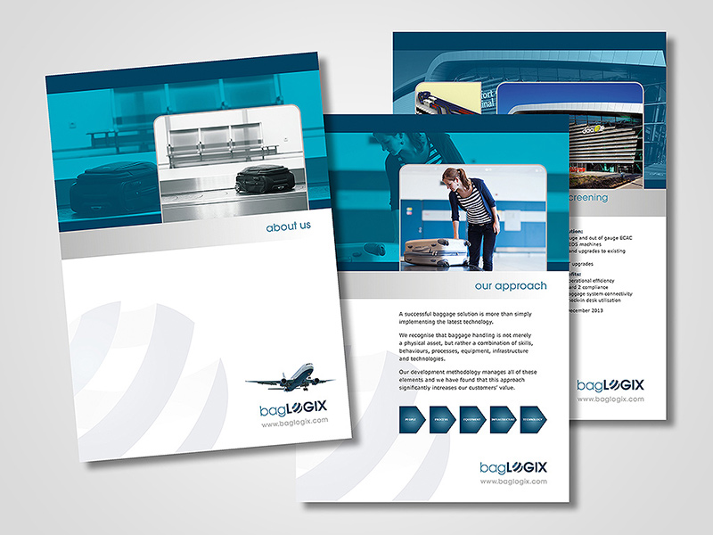 bagLOGIX Company Brochure Design by BlueFlameDesign