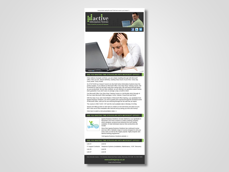 ActiveIT 'Microsoft Office Training' Email Marketing / eMarketing Campaign