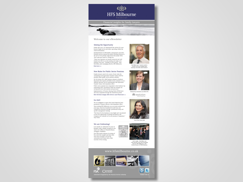 HFS Milbourne Email Marketing / eMarketing Campaign