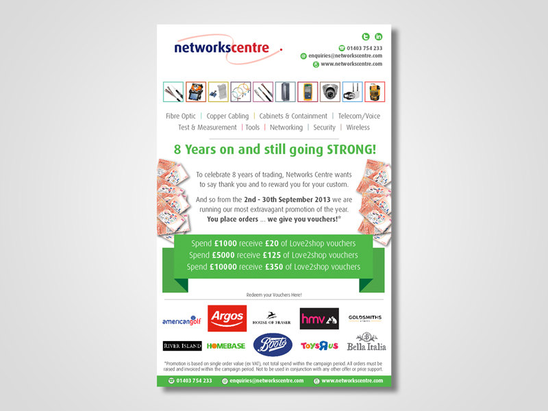 Networks Centre Email Marketing / eMarketing Campaign