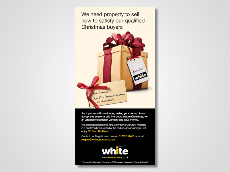 White and Sons 'Active Christmas' Email Marketing / eMarketing Campaign