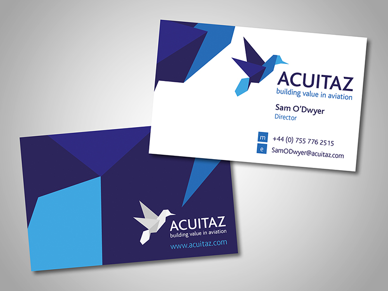 Acuitaz Company Stationery Design and Business Branding