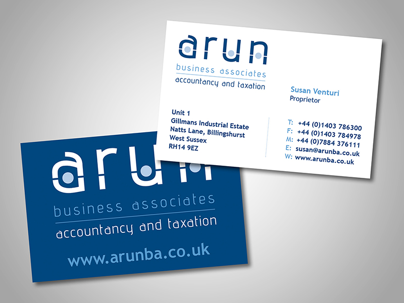 Arun BA Company Stationery Design and Business Branding
