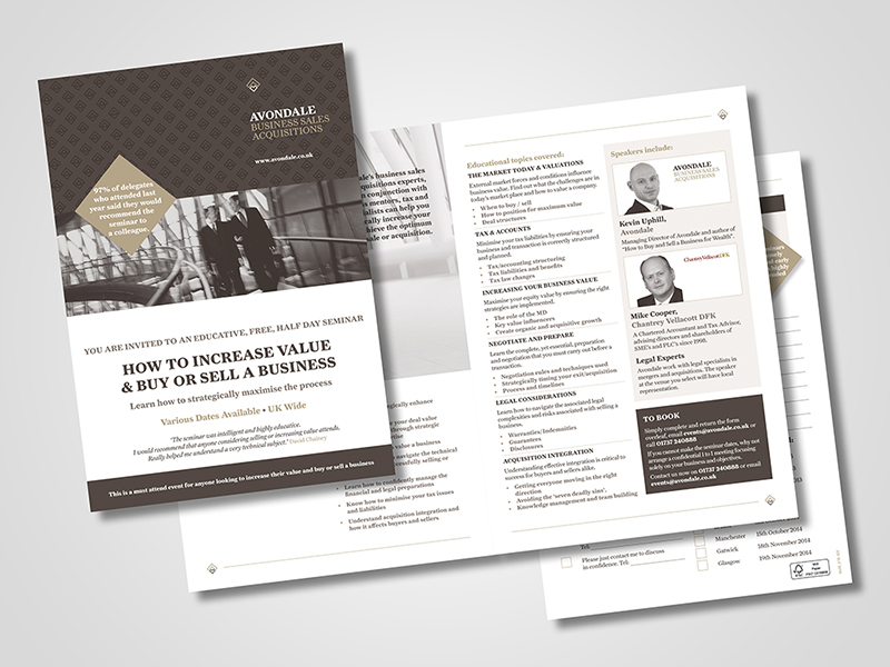 Avondale 'Seminar' Direct Mail Design and Marketing