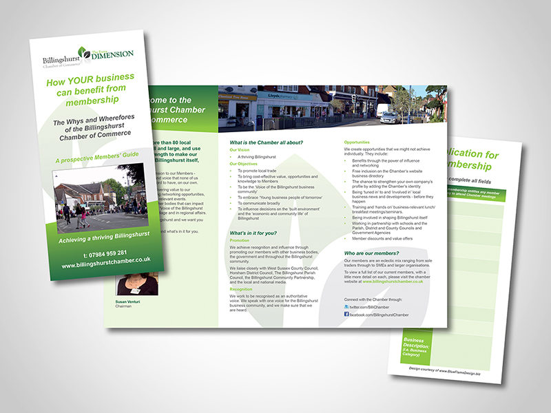 Billingshurst Chamber 'Information Leaflet' Direct Mail Design and Marketing