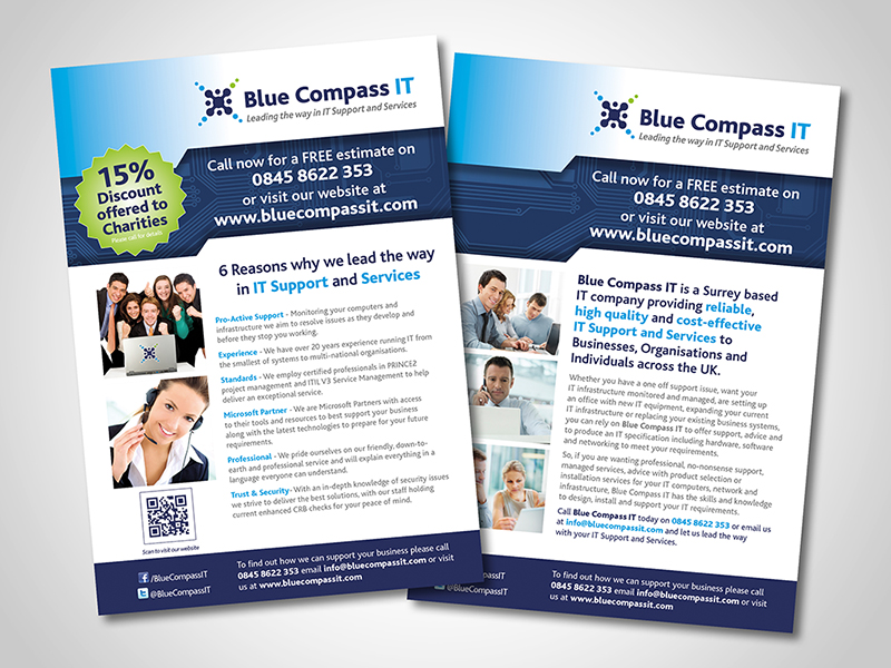 Blue Compass IT Direct Mail Design and Marketing