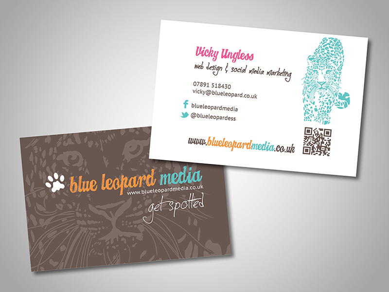Blue Leopard Media Company Stationery Design