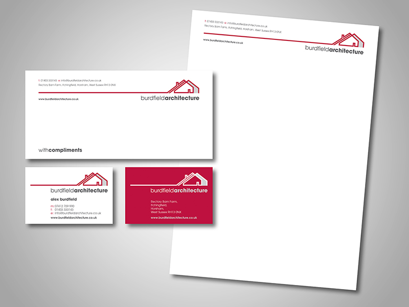 Burdfield Architecture Company Stationery Design