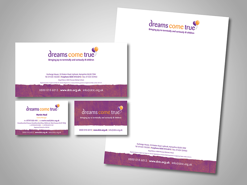 Dreams Come True Company Stationery Design