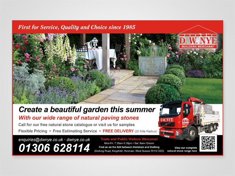 DW NYE 'Beautiful Gardens' Advert Design and Print Advertising