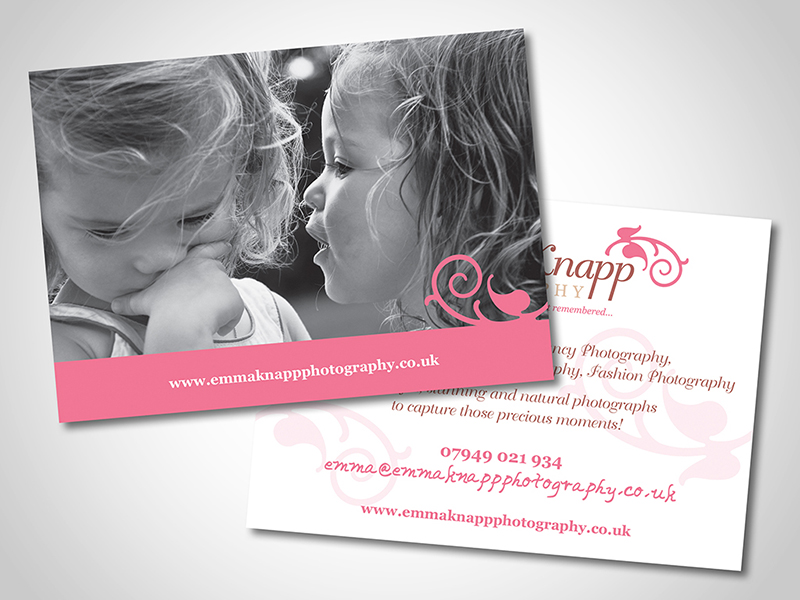 Emma Knapp Photography Direct Mail Design and Marketing