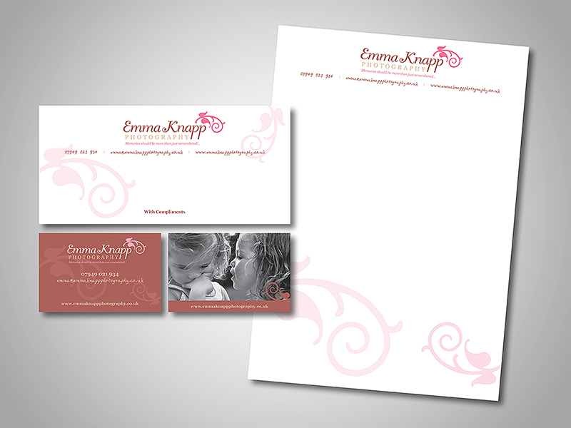 Emma Knapp Photography Company Stationery Design