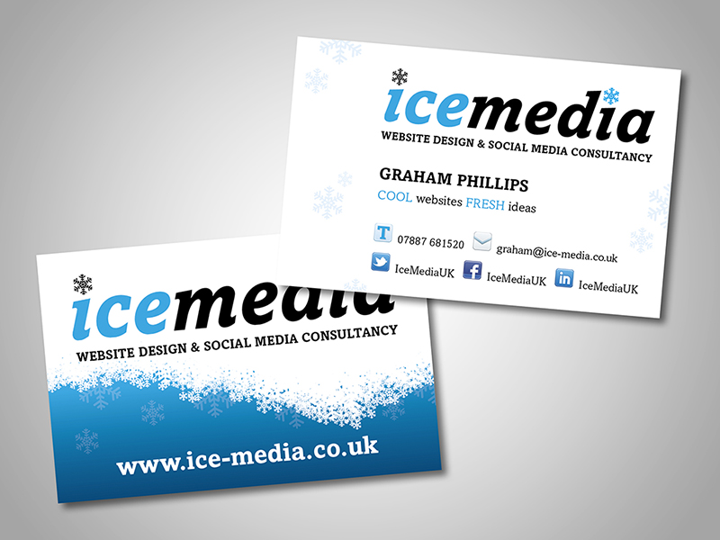 Ice Media Company Stationery Design and Business Branding