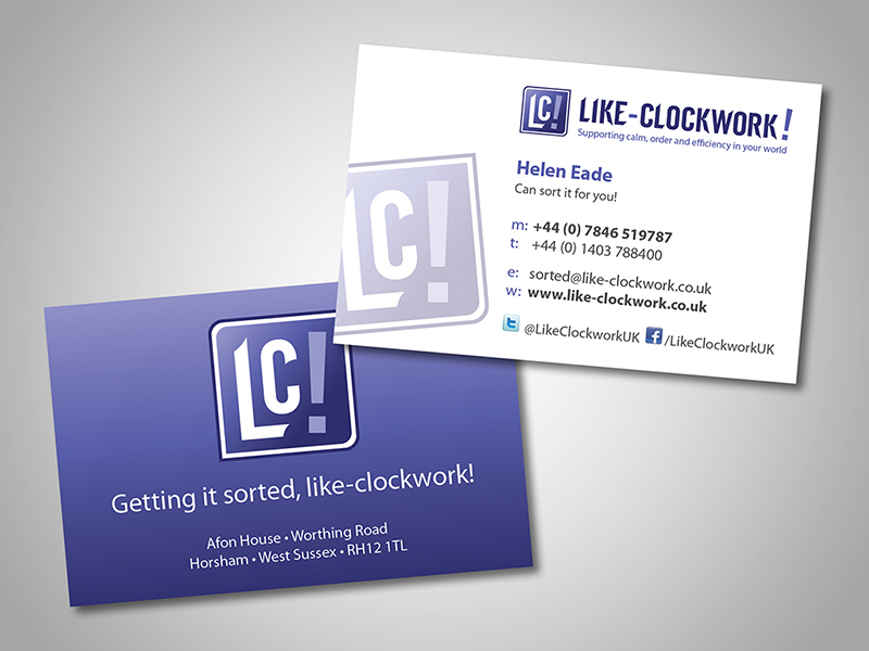 Like-Clockwork Company Stationery Design and Business Branding