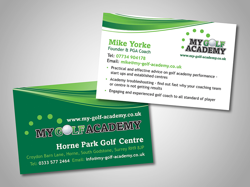 MY Golf Academy Company Stationery Design and Business Branding
