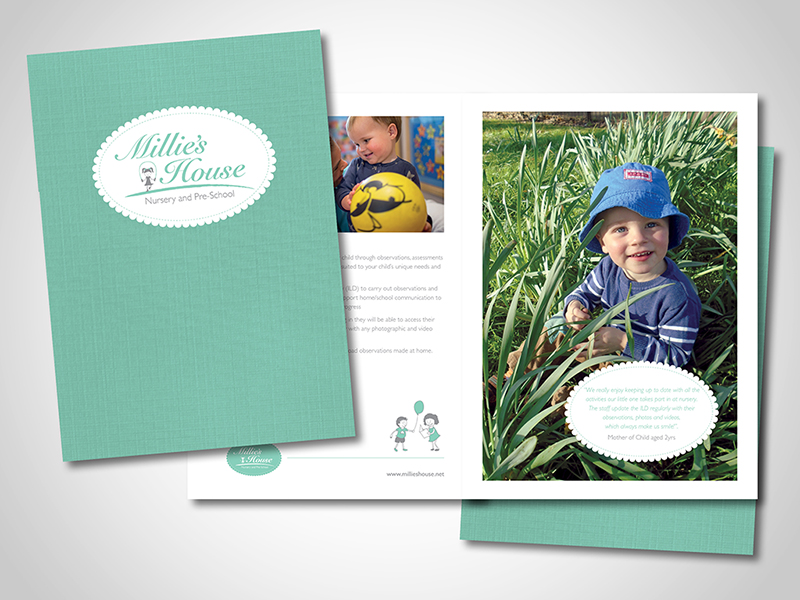 Millie's House Nursery Company Brochure Design