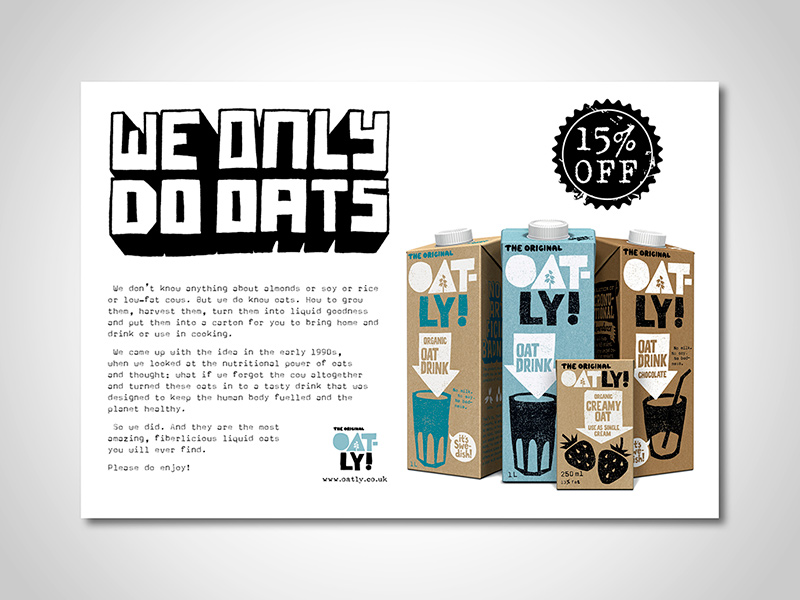 Oatly Advert Design and Print Advertising