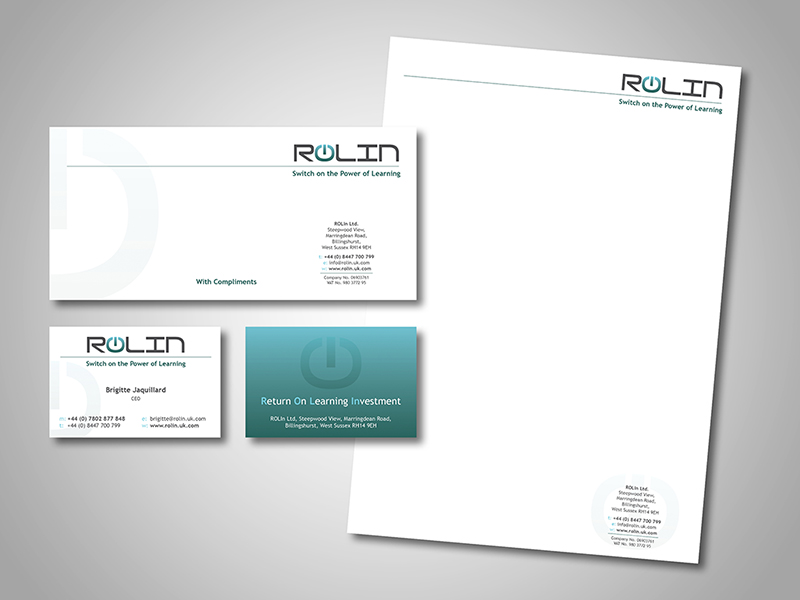 ROLIn Company Stationery Design and Business Branding