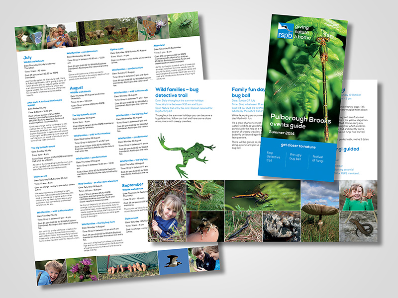 RSPB Events Guide (Summer)  Brochure Design